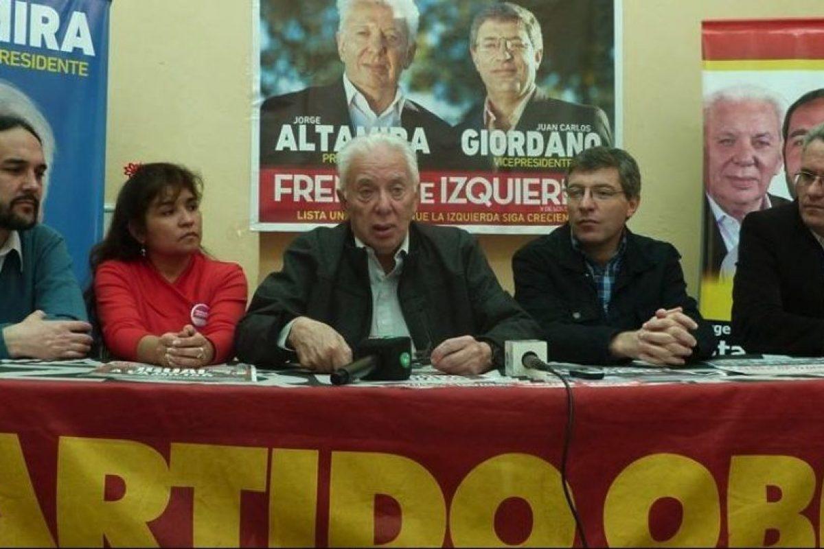 Fue legislador de la Ciudad Autónoma de Buenos Aires. Foto:facebook.com/jorge.altamira.ok