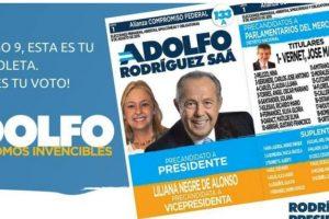 """Adolfo Rodríguez Saá – """"Compromiso Federal"""" Foto:Facebook.com/AdolfoRS2015"""