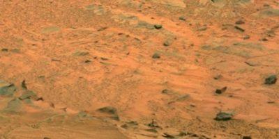 Fotografía original de la NASA, tomada por el explorador Spirit. Foto: Foto original http://photojournal.jpl.nasa.gov/jpeg/PIA10214.jpg