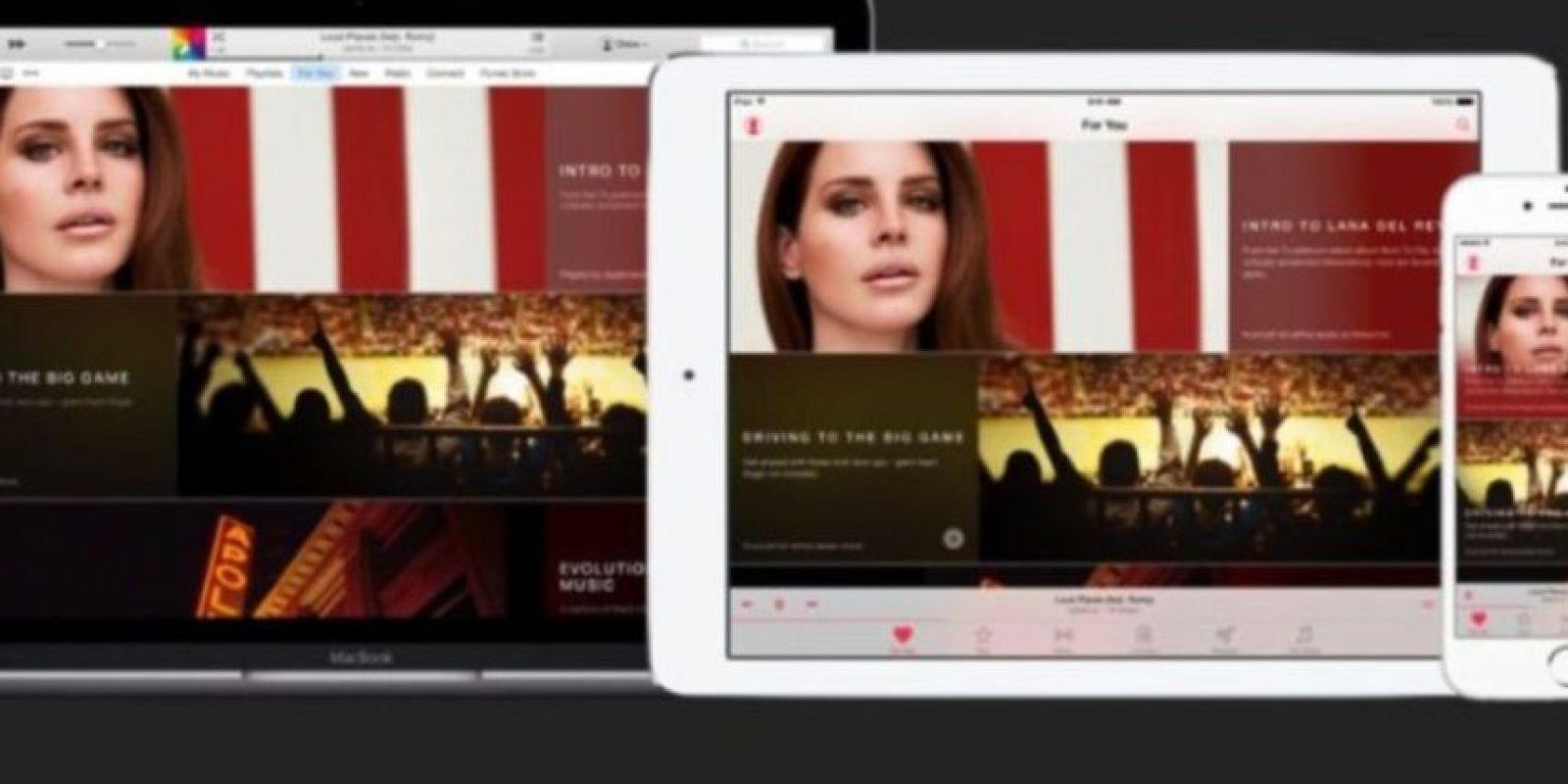 Apple Music ya está disponible para dispositivos móviles de Apple con iOS 8.4 o iTunes 12.2. Foto:Apple