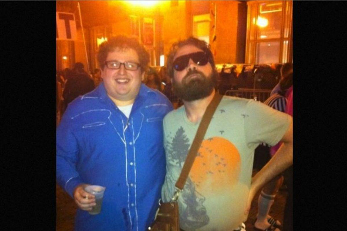 Iguales a Zach Galifianakis y Jonah Hill Foto:Reddit/Getty