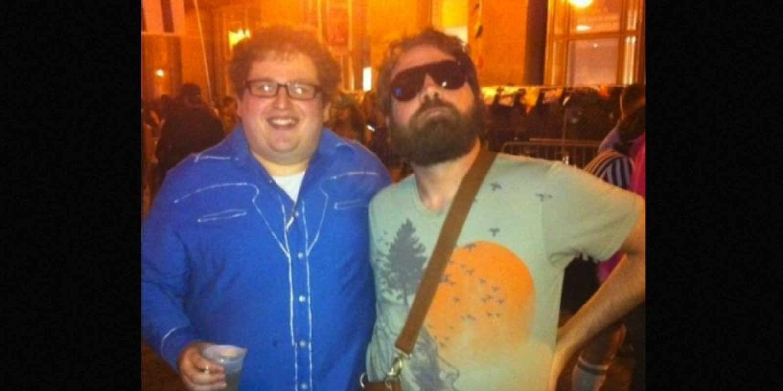 Iguales a Zach Galifianakis y Jonah Hill Foto: Reddit/Getty