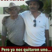Junto a José Mireles, líder de las autodefensas en el país. Actualmente preso. Foto:Twitter.com/Irvs_9