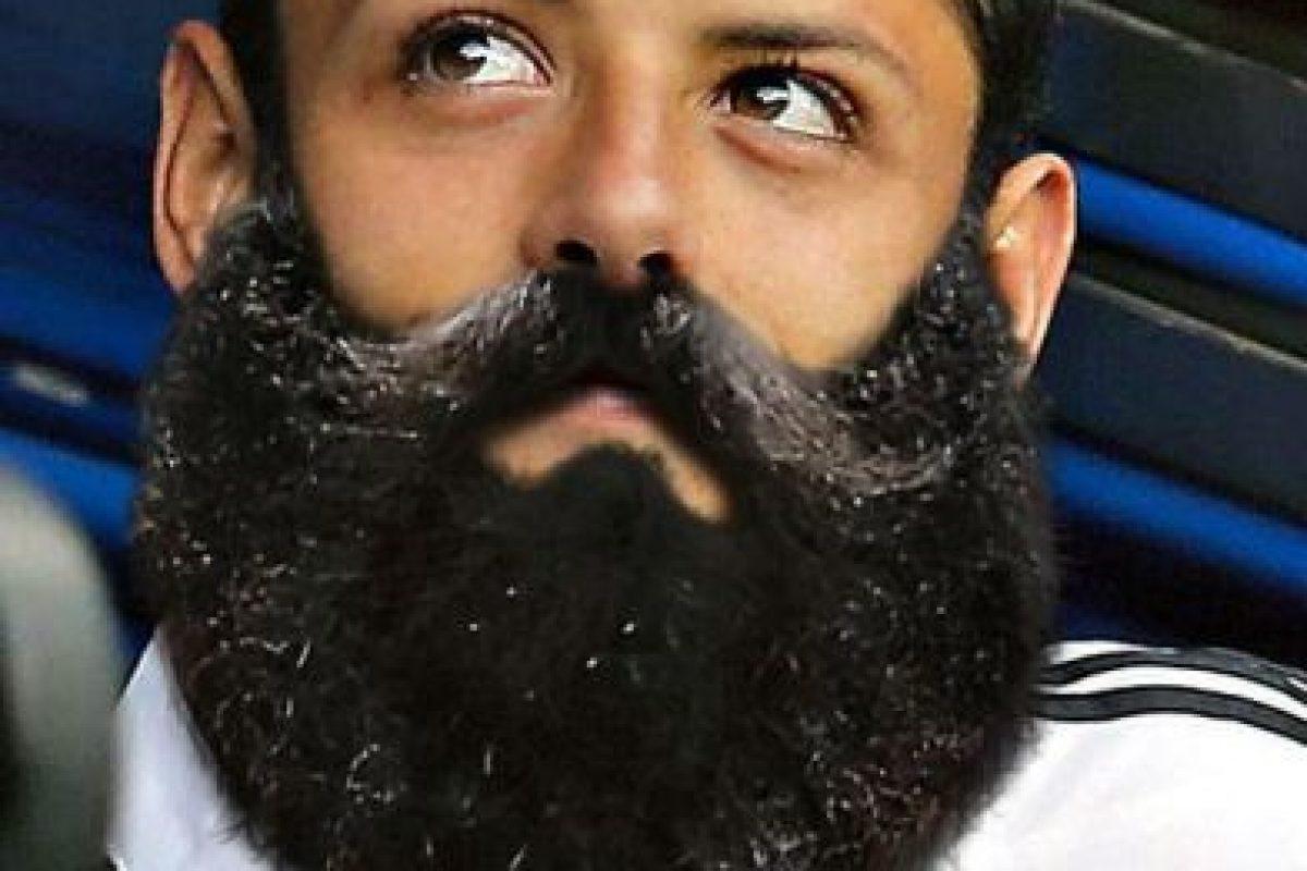 """Así se vería """"Chicharito"""" con barba Foto:Twitter"""