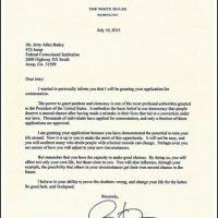 Esta fue la carta que envió el presidente a todos aquellos que recibieron el perdón. Foto:Vía Twitter @WhiteHouse