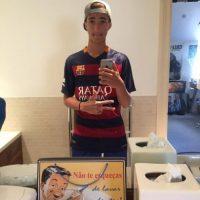 """""""Apoyo al Barcelona porque ahí nací y siempre me ha gustado el club y por supuesto, Messi"""". Foto:Vía twitter.com/FFC_JM"""