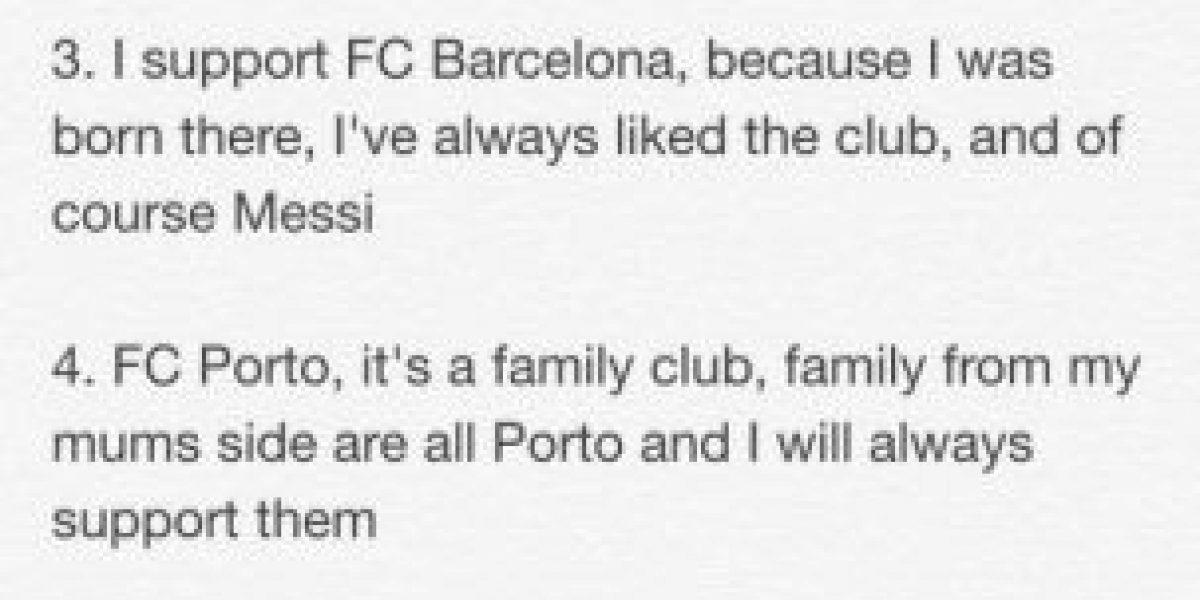 Hijo de Mourinho es hincha del Barça y fan de Messi