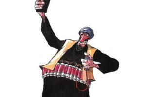 Daesh terrorist por Silvano Mello, de Brasil: Mejor caricatura política de 2014 Foto:irancartoon.com