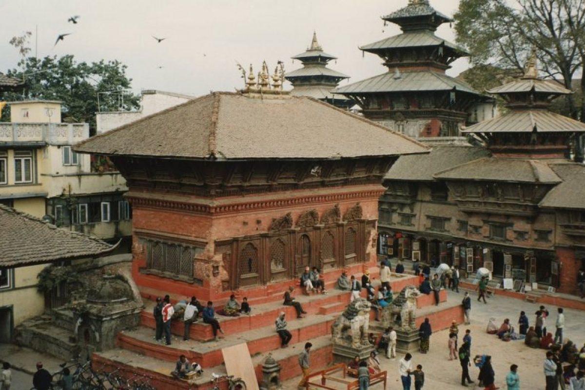Y la plaza de Katmandú, las tres se encuentran en la calle de Durbar Foto:Vía wikimedia.org