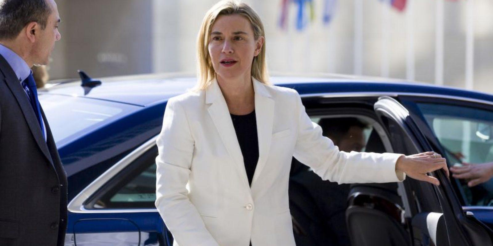 Federica Mogherini, representante de la Unión Europea para Asuntos Exteriores Foto:AP