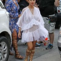 Kourtney Kardashian se encuentra vacacionando en St. Barts. Foto:Grosby Group