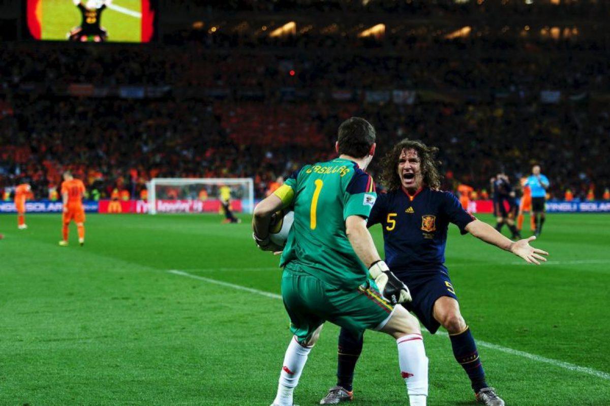 """Mucha suerte, amigo"". Foto:Getty Images"