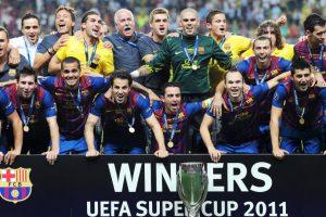 4. Barcelona es el club que más Supercopas de la UEFA ha disputado a lo largo de su historia, con nueve presencias (incluyendo la de 2015), y hasta ahora ha ganado cuatro (1992, 1997, 2009 y 2011) y perdido otras cuatro (1979, 1982, 1989 y 2006). Foto:Getty Images