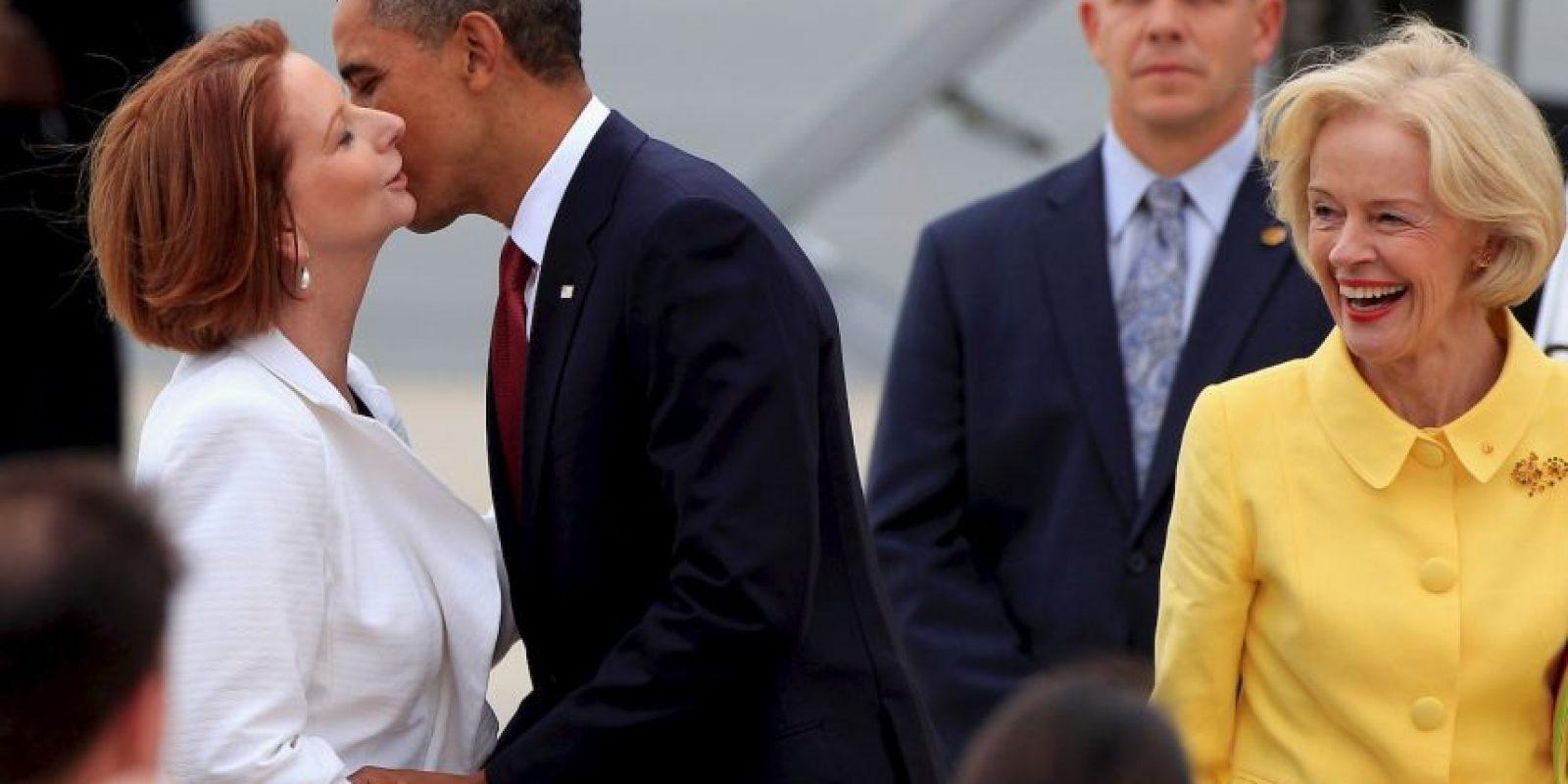 Funcionarios australianos se reunieron para hablar de diferentes fotografías, entre ellas las de Obama y Julia Gillard. Foto:Getty Images