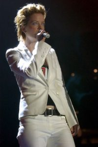 """La cantante escocesa Shirley Ann Manson, vocalista del grupo """"Garbage"""" Foto:Getty Images"""