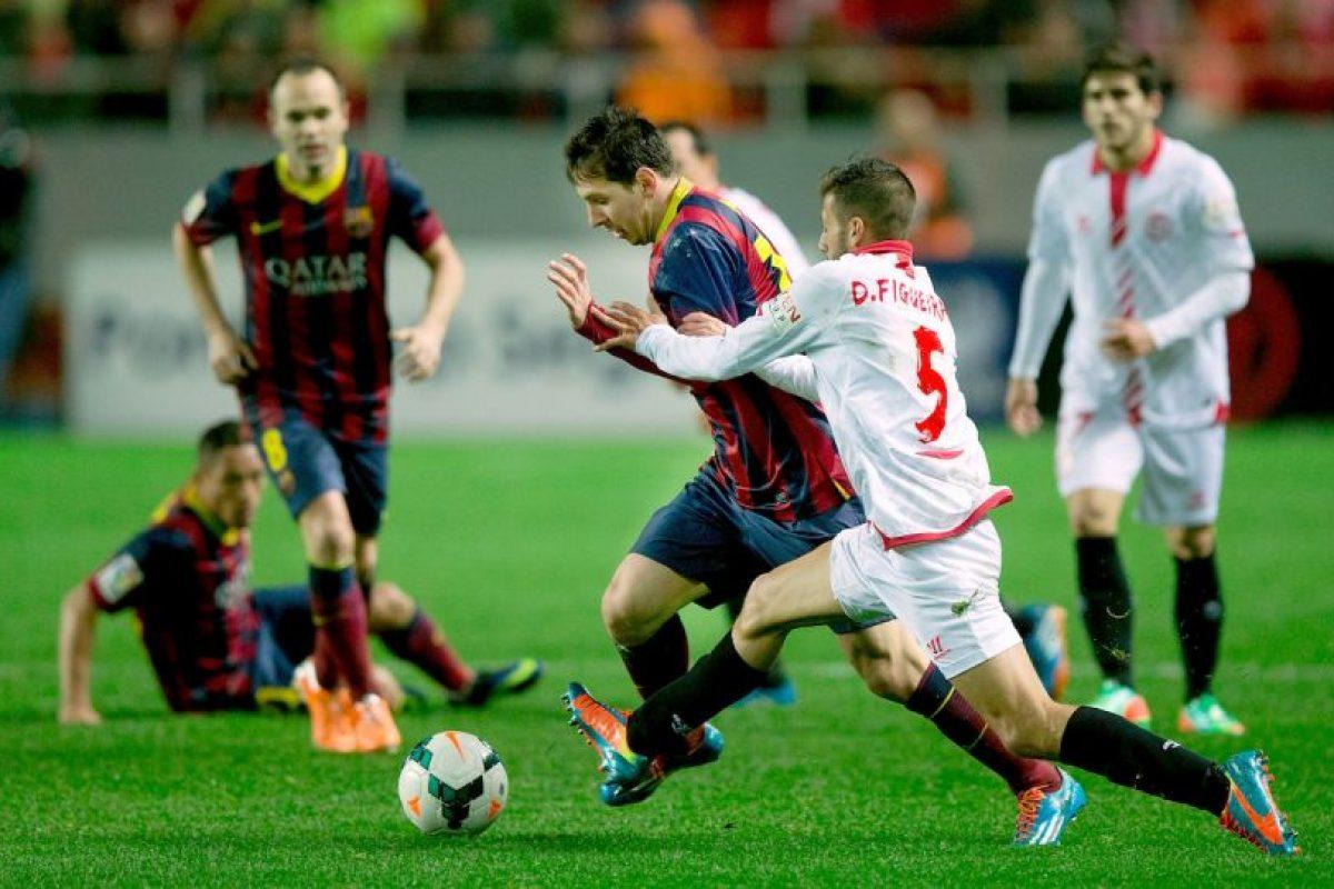 7. Barcelona y Sevilla se han enfrentado oficialmente 152 veces en todas las competiciones. El saldo es de 80 victorias para los catalanes, 38 para los andaluces y 34 empates. Foto:Getty Images