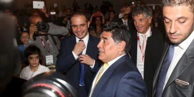 """Diego Maradona posteó una imagen de Blatter con el texto """"Ladrón"""" Foto:Getty Images"""