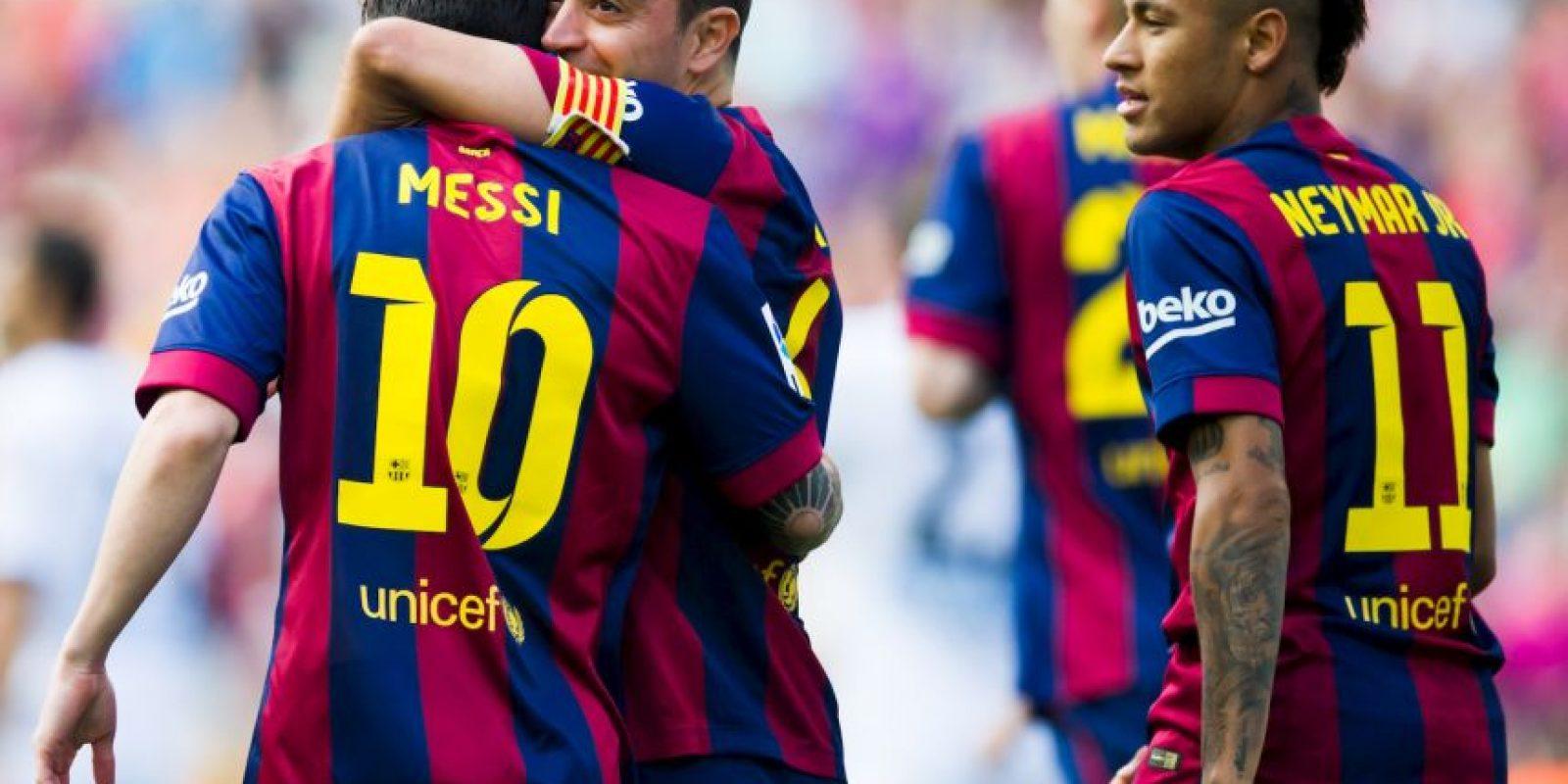 El Barcelona se fue adelante primero con doblete de Lionel Messi al 5′ y 59′. Foto:Getty Images