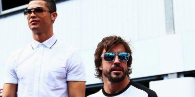 Cristiano Ronaldo festeja su Pichichi en la Fórmula 1