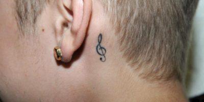 """""""Clave de Sol"""": Simboliza su amor por la música. Foto:Getty Images"""