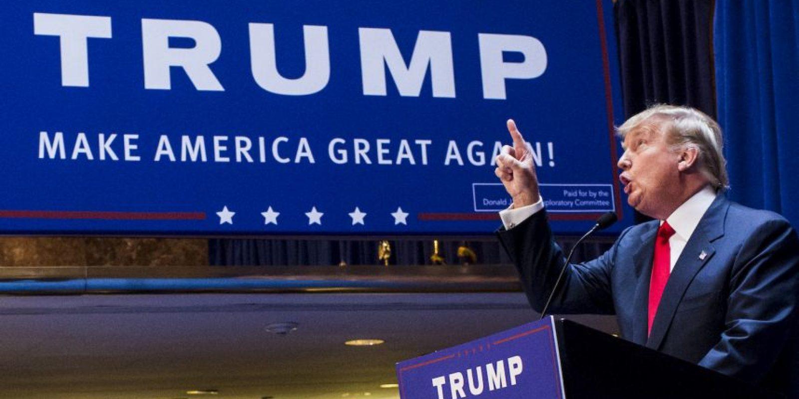 Se ha reafirmado en que hay que construir un muro entre México y Estados Unidos. Foto:Getty Images