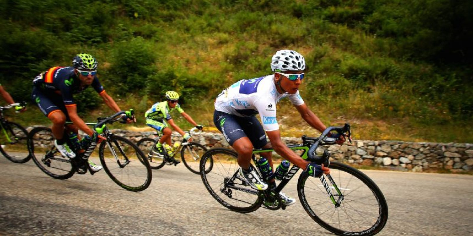 En 2014 se coronó ganador del Giro de Italia, convirtiéndose en el primer latinoamericano en ganar esta competencia. Foto:Getty Images