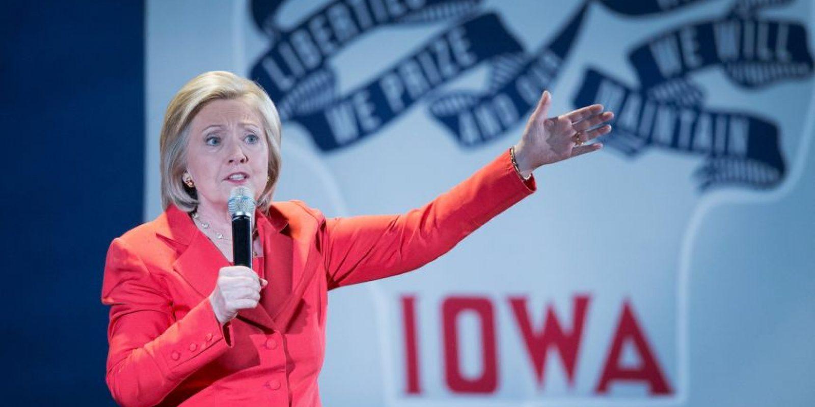 Está casada con el expresidente Bill Clinton. Foto:Getty Images