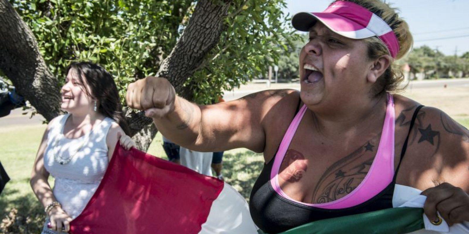 3. Y también hubo manifestaciones Foto:Getty Images
