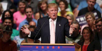 """""""Me acabo de dar cuenta que si escuchan durante más de 10 minutos a Carly Fiorina, inmediatamente les dará un terrible dolor de cabeza ¡No tiene oportunidad alguna!"""", escribió Trump sobre la única mujer republicana buscando la candidatura presidencial. Foto:Getty Images"""