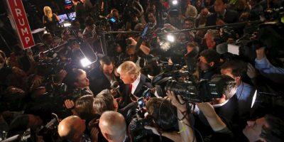 """""""Le di mucho dinero a mucha gente. Y cuando necesitaba algo, ellos estaban luego ahí para mí. A Clinton le di y luego le pedí que viniera a mi boda y allí estaba. Lo que yo no sabía es que usaría ese dinero para jets privados"""", sostuvo Trump. Foto:Getty Images"""