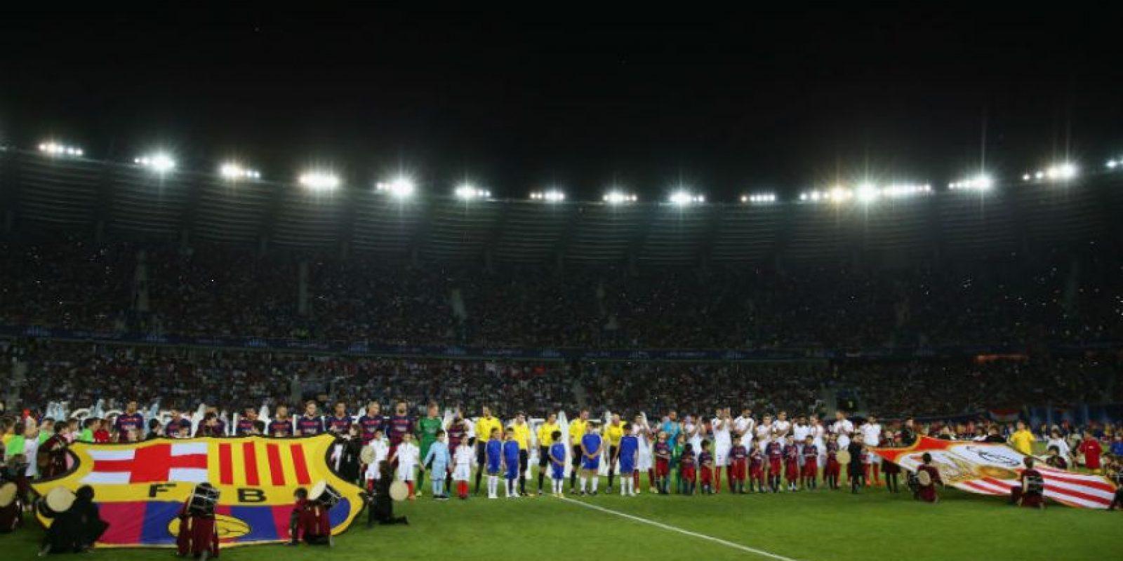 8. Estarán presentes los monarcas de Europa: Barcelona, campeón de la Champions, y Sevilla, monarca de la Europa League Foto:Getty Images