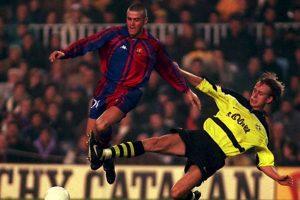 12. Luis Enrique, entrenador del Barcelona, ya ganó la Supercopa de la UEFA como jugador en 1997. En aquel año, el Barça se enfrentó al Borussia Dortmund a doble partido, y en la ida, Luis Enrique abrió el marcador. Al final, los españoles se impusieron por global de 3-1. Foto:Getty Images