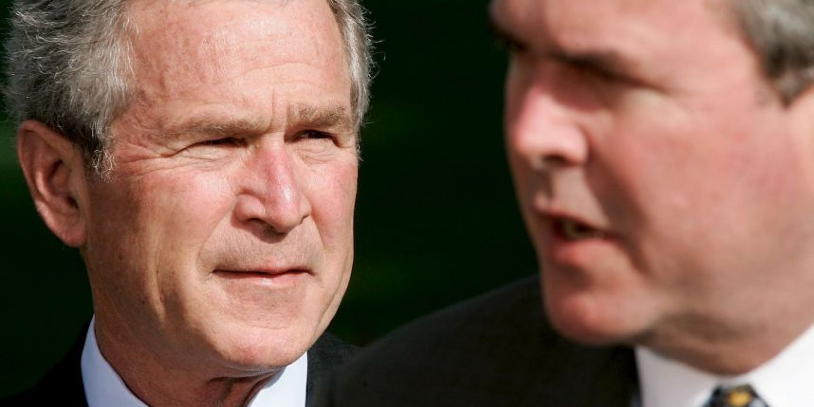 Jeb Bush y su hermano George W. Bush Foto: Getty Images