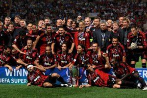 """5. El equipo con más Supercopas de la UEFA ganadas es el AC Milán de Italia (cinco títulos). Si Barcelona vence a Sevilla, igualará el récord de los """"Rossoneris"""". Foto:Getty Images"""