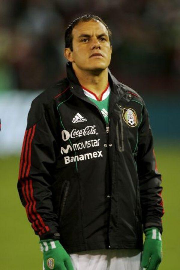 """Aunque no es propiamente sudamericano, Cuauhtémoc Blanco participó con el invitado de Conmebol, México, en tres Copas América (1997, 1999 y 2007). El ídolo del """"Tricolor"""", recién retirado, sólo alcanzó el tercer lugar en las tres ediciones que disputó y marcó un total de cinco goles. Foto:Getty Images"""
