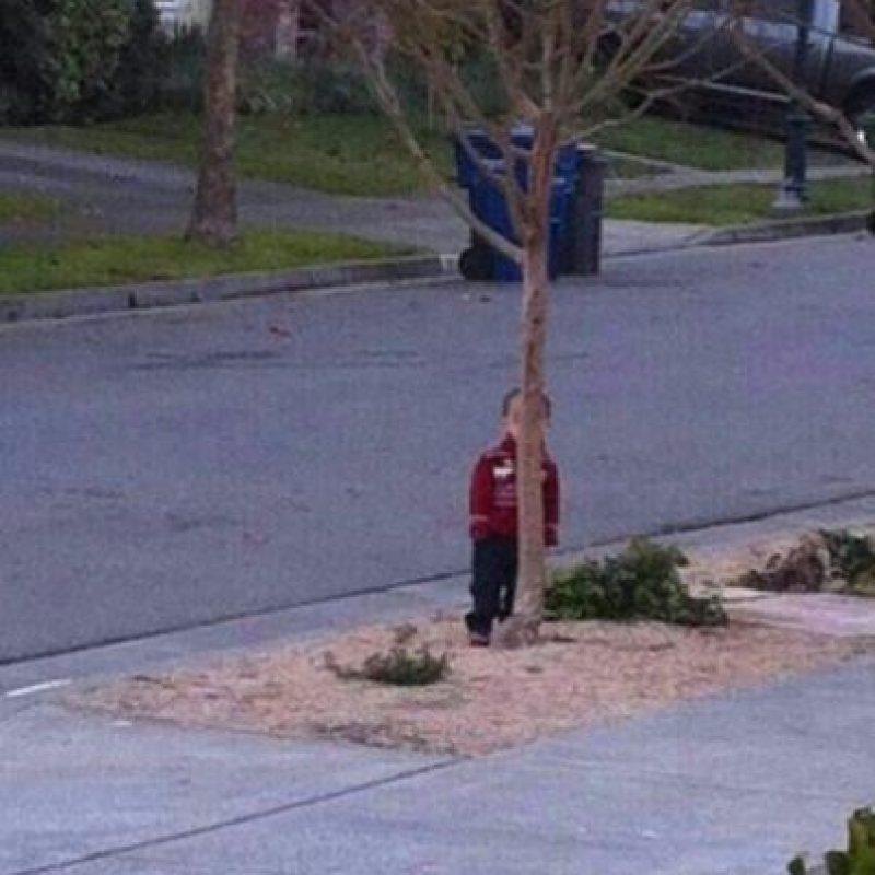 Y así es como juegan al escondite Foto:Parenting Failblog