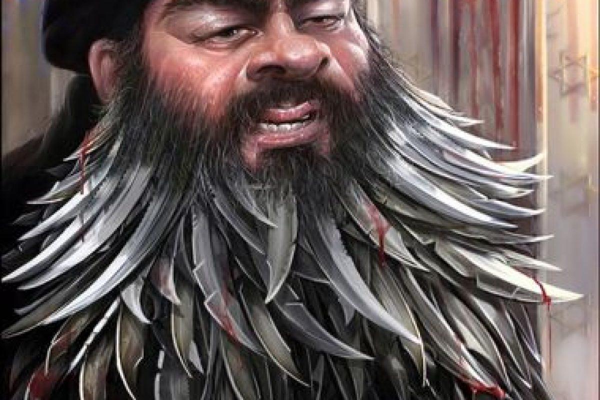 Un dibujo de Abu Bakr al Baghdadi, líder de ISIS Foto:irancartoon.com
