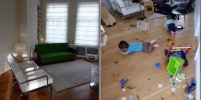 La vida antes y después de tener niños Foto:Parenting Failblog