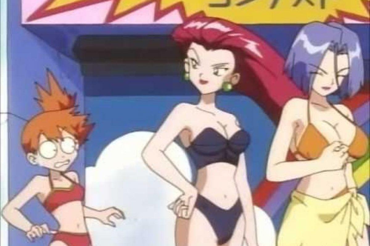 En un episodio censurado, el villano James (del Equipo Rocket) usa un bikini. Foto:YouTube
