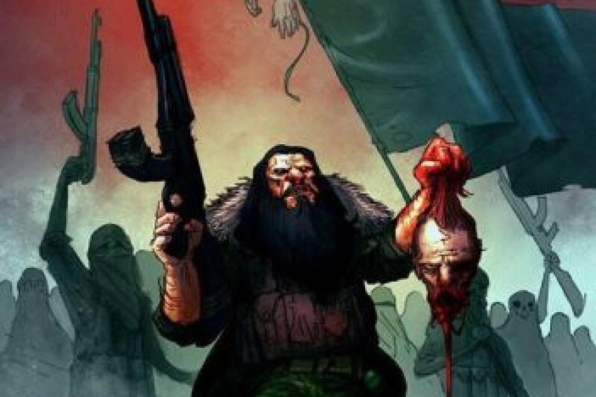 """ISIS en Irak"" por Ibrahem Swaid de Emiratos Árabes Unidos. Categoría: Mejor caricatura política de 2014 Foto:irancartoon.com"