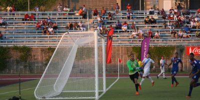 El primer gol de Cincotta con la bicolor decidió el partido en Hamilton. Foto:ACD