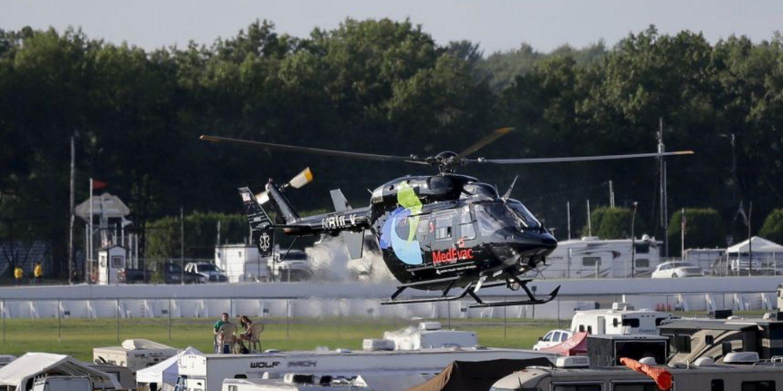 Un helicóptero tuvo que llevarlo al hospital Foto:AP