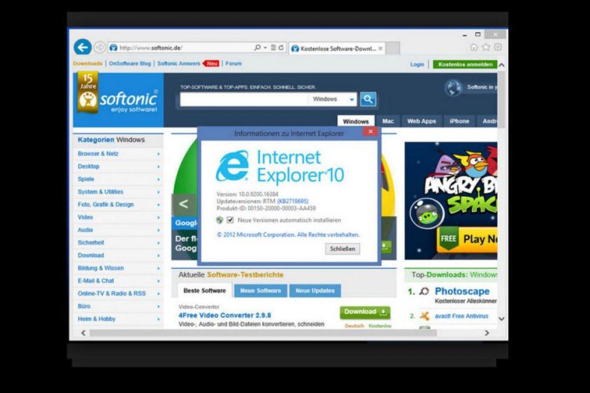 Internet Explorer 10.0 (2012) Foto:Microsoft