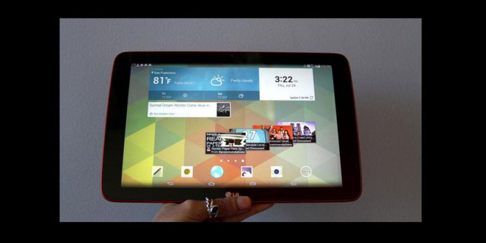 Almacenamiento de 16GB ampliables con tarjetas microSD Foto:LG