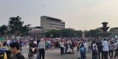 Manifestantes hacen un llamado para evitar confrontaciones