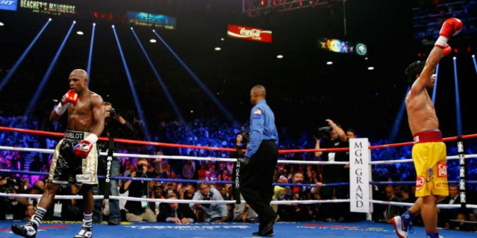 Celebridades, deportistas y millonarios presenciaron la victoria de Floyd Mayweather Foto:Getty Images
