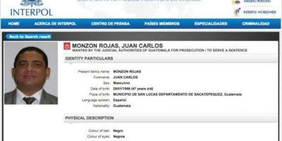 Interpol emite alerta por orden de captura contra Monzón
