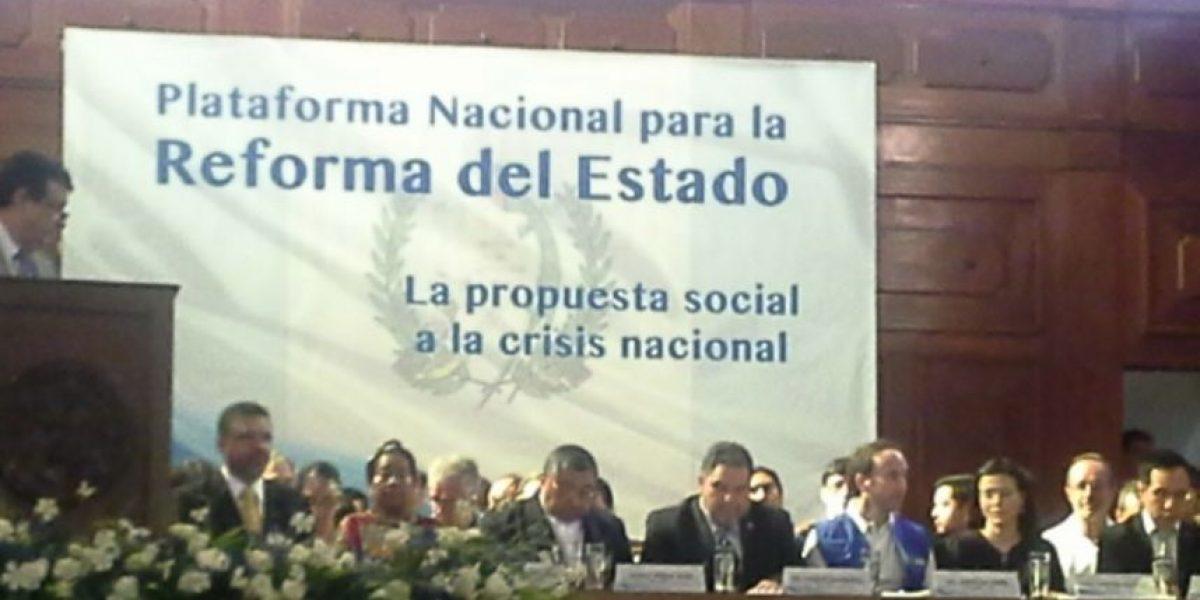 La Plataforma Nacional continúa hoy discusión de propuestas