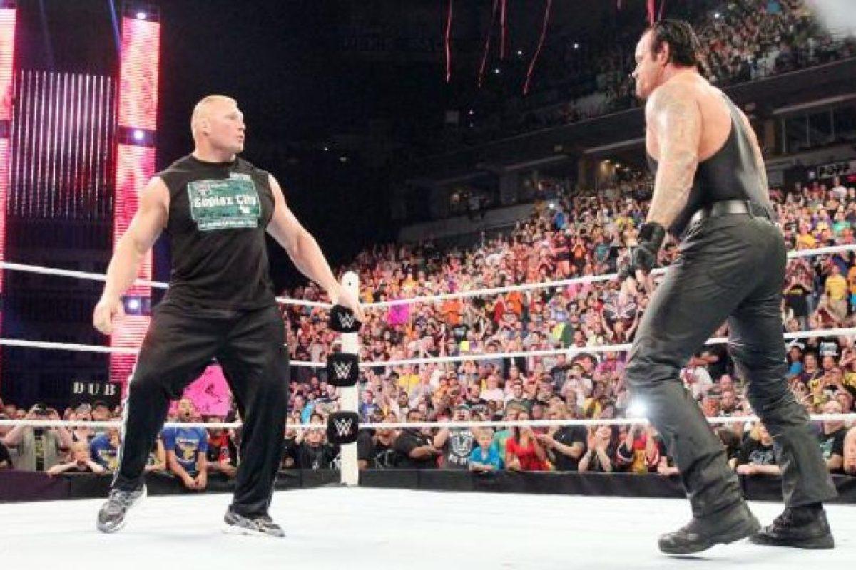 3. Undertaker tiene el mayor número de apariciones con 15, de las cuales en cuatro ocasiones ha estado en el evento central Foto:WWE