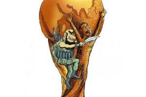 Saeed Sadeghi-Iran/Mejor caricatura de 2014 Foto:irancartoon.com